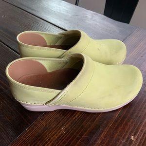 Dansko Neon Green Clog Mules Womens's Size 39